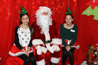 Santa's elves - Zara and Francesca