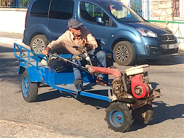 'Lawnmower Man' in the Greek Islands