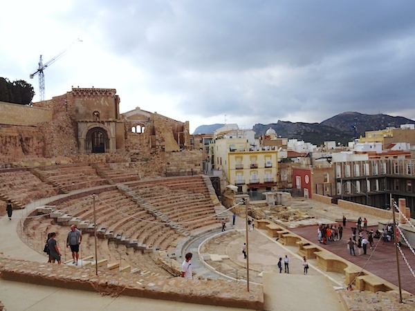The magnificent Roman Amphitheatre in the centre of Cartagena
