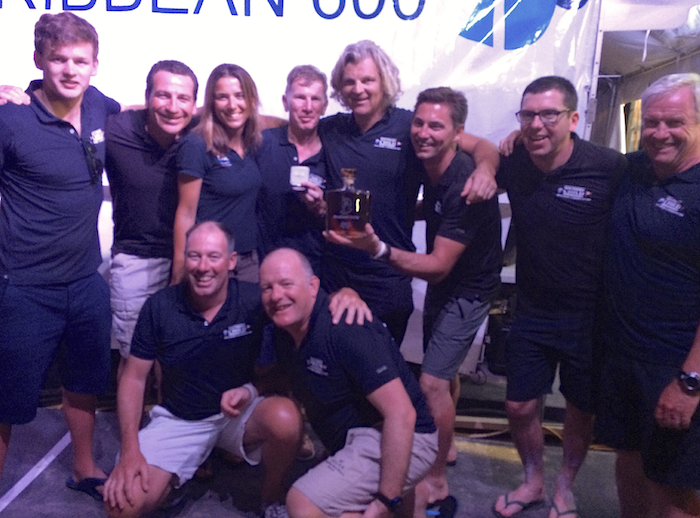 The 'Southern Child' crew following their 3rd place in IRC2 at the 2016 Caribbean 600 - Luke Malcolm, Darren Wright, Lucy Jones, Kieran Jameson, Michael Wright, Rick DeNeve, Johnny White, Colm Birmingham, Brian Turvey and Frank Dillon