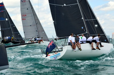 Dave Cullen on Checkmate XVI take 3rd in the Miami Ocean Challenge - C&C 30 series