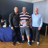 2018 Squib Easterns Race 2 winner - David Ferris (Killyleagh YC) with Gary Cullen (Provident CRM) and Rear Commodore Paddy Judge