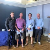 2018 Squib Easterns Race 5 winners - Ian Travers and Keith O'Riordain (KYC) with Gary Cullen (Provident CRM) and Rear Commodore Paddy Judge
